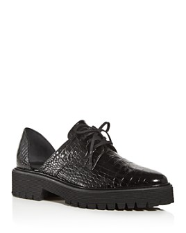 Freda Salvador - Women's Alana Croc-Embossed d'Orsay Oxfords