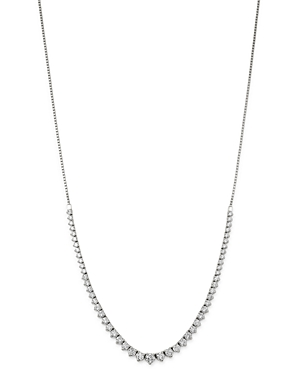 Bloomingdale's Diamond Bolo Necklace in 14K White Gold, 4.5 ct. t.w. - 100% Exclusive