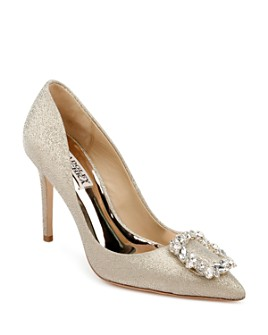 Badgley Mischka - Women's Cher Crystal Buckle Pumps