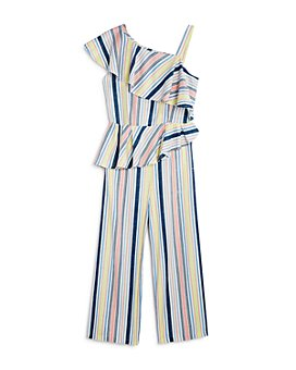 Habitual Kids - Girls' Striped & Ruffled Jumpsuit - Big Kid