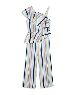 Habitual Kids - Girls' Striped & Ruffled Jumpsuit - Big Kid