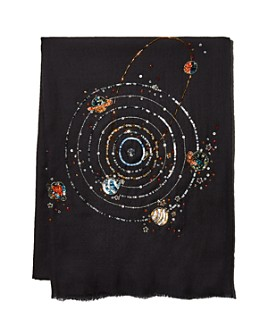Janavi India - Galaxy Woven Wool & Silk Stole - 100% Exclusive
