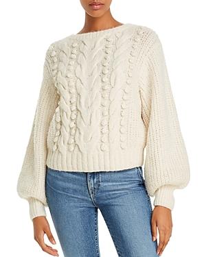 Eleven Six Charlotte Alpaca-Blend Mixed-Knit Sweater