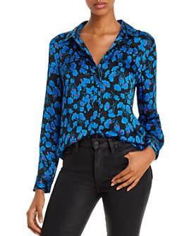 Equipment - Leema Floral Satin Button-Down Shirt