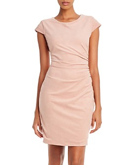 GUESS - Estelle Ruched Faux Suede Dress
