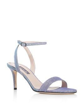 SJP by Sarah Jessica Parker - Women's Gal Glitter Mid-Heel Sandals