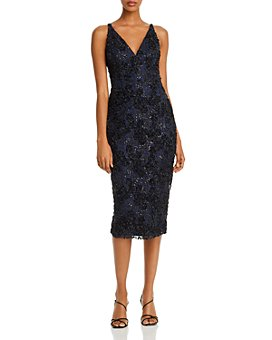 AQUA - Sequin Lace Sheath Dress - 100% Exclusive