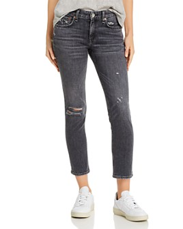 rag & bone - Dre Distressed Slim Boyfriend Jeans in Abbots