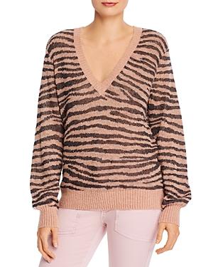 Joie Inira Animal Print V-Neck Sweater-Women