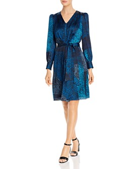 Elie Tahari - Silk Leopard Patchwork Print Dress - 100% Exclusive