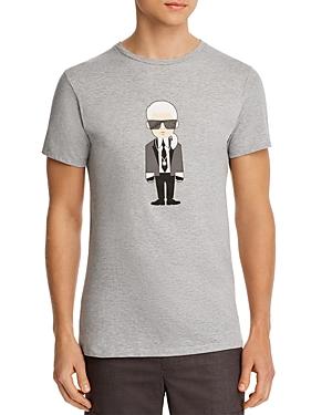 Karl Lagerfeld Paris Karl Caricature Graphic Logo Tee