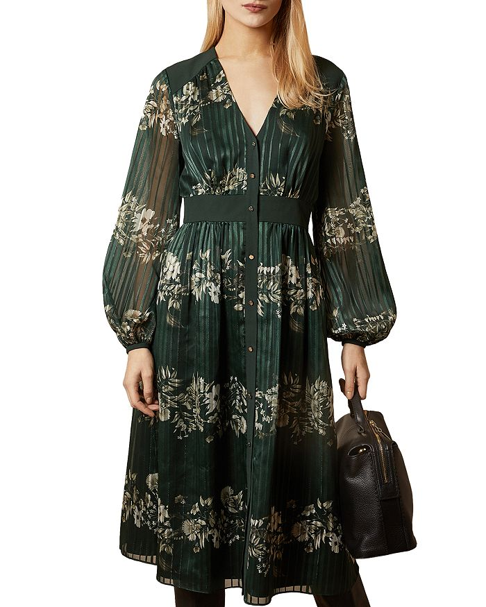 Ted Baker - Delyla Meadow-Print Midi Dress