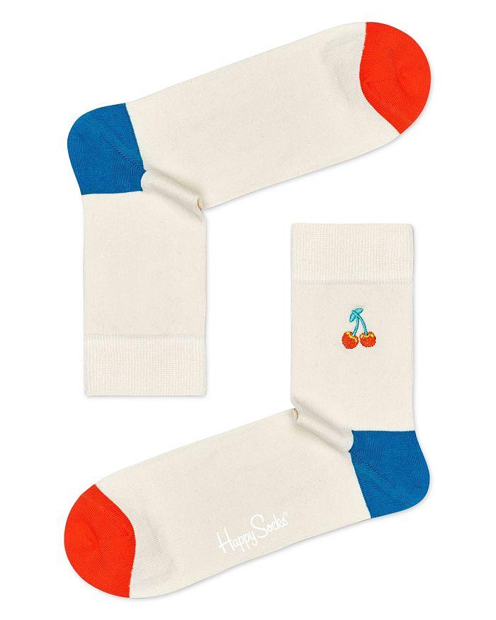 Happy Socks EMBROIDERED CHERRY CREW SOCKS