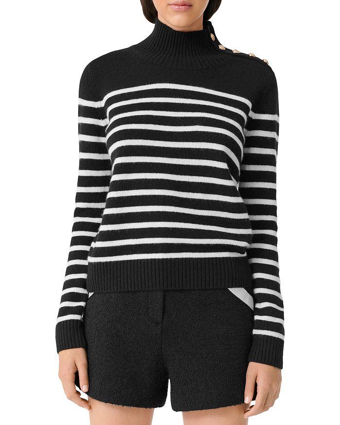 Maje - Montsi Striped Cashmere Sweater