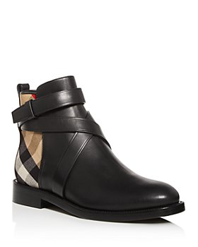 Burberry - Women's House Check Almond-Toe Booties