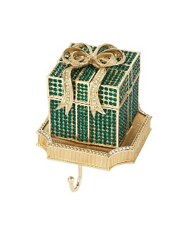 Olivia Riegel - Gift Box Crystal Pavé & Pewter Stocking Holder