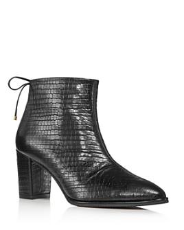 Stuart Weitzman - Women's Gardiner Croc-Embossed Booties
