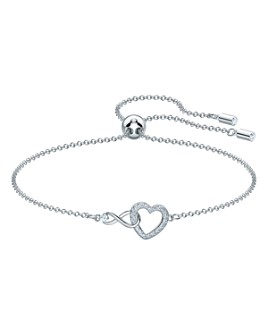 Swarovski - Infinity Adjustable Open-Heart Station Bracelet
