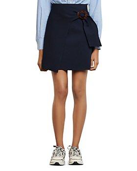 Sandro - Passy Asymmetric Mini A-Line Skirt