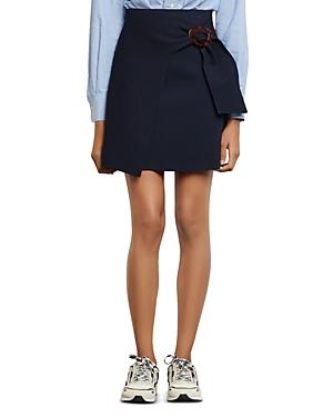 Sandro Passy Asymmetric Mini A-Line Skirt