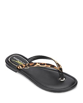 Kenneth Cole - Women's Mello Leopard-Print Flip-Flops