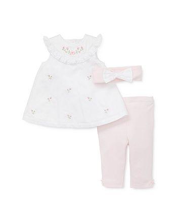 Little Me - Girls' Rosebud Tunic, Leggings & Bow Headband Set - Baby