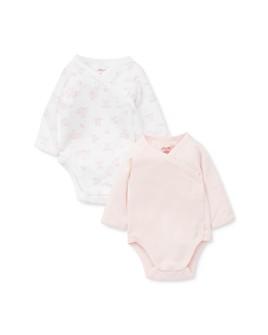Little Me - Girls' Bunny Print Bodysuit, 2 Pack - Baby