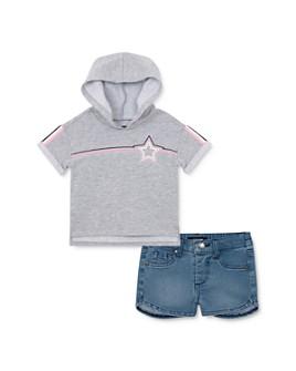 Joe's Jeans - Girls' Hooded Tee & Denim Shorts Set - Little Kid