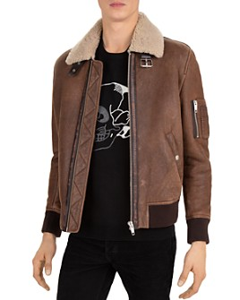 The Kooples - Crazy Flying Shearling Bomber Jacket