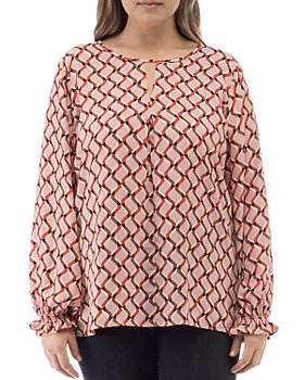 B Collection by Bobeau Curvy - Emi Geo-Print Keyhole Top