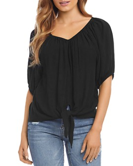 Karen Kane - Scoop-Neck Tie-Front Top