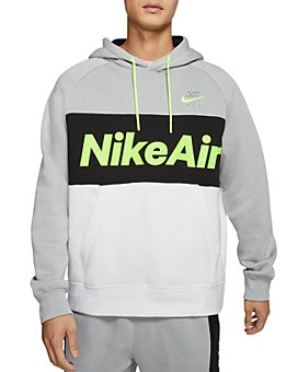 Nike - Air Logo Color-Block Hooded Sweatshirt