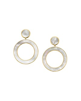IPPOLITA - 18K Yellow Gold Polished Rock Candy Mother-of-Pearl Stone Dot & Open Circle Slice Earrings