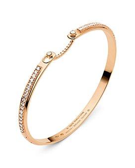 Nouvel Heritage - 18K Rose Gold Mood Tuxedo Diamond Bangle Bracelet
