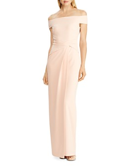 Ralph Lauren - Crêpe Fixed Twist Gown