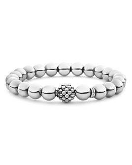 LAGOS - Sterling Silver Signature Caviar Lattice Ball Bracelet