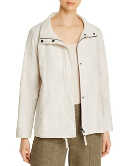 Eileen Fisher - Organic-Cotton-Blend Zip Jacket