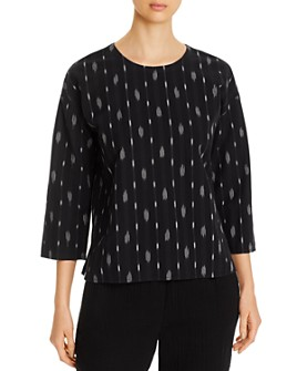 Eileen Fisher - Printed Organic Cotton Top - 100% Exclusive