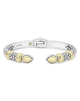 LAGOS - Sterling Silver & 18K Yellow Gold High Bar Cuff Bracelet