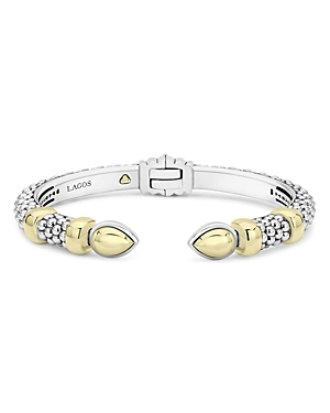 Lagos Sterling Silver & 18K Yellow Gold High Bar Cuff Bracelet-Jewelry & Accessories