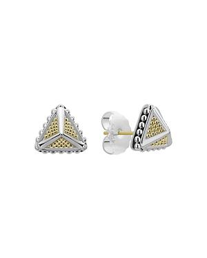 Lagos 18K Yellow Gold & Sterling Silver Ksl Stud Earrings