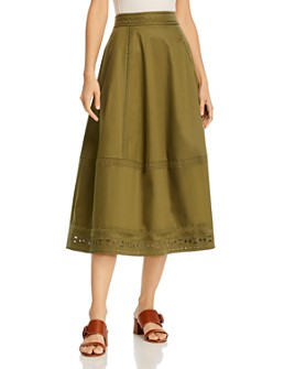 Elie Tahari - Embroidered Midi Skirt