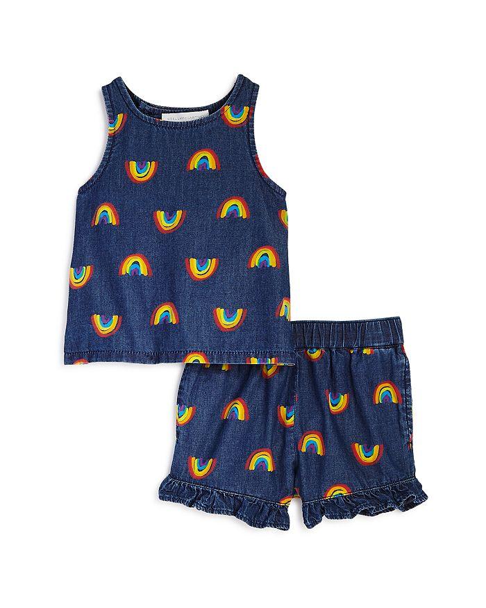 Stella McCartney - Girls' Cotton Rainbow Tank & Shorts Set - Baby