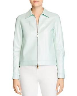 Lafayette 148 New York - Nash Leather Zip Jacket