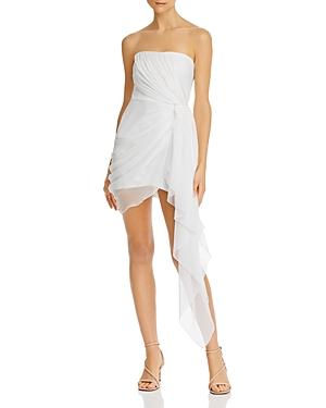 Cinq a Sept Strapless Draped Chiffon Mini Dress-Women