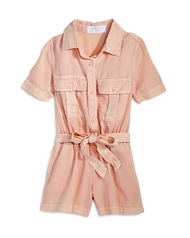 Bella Dahl - Girls' Utility Pocket Romper - Little Kid, Big Kid