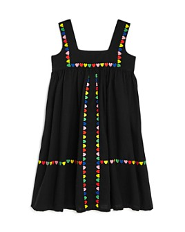 Stella McCartney - Girls' Heart Embroidered Linen & Cotton Dress - Little Kid, Big Kid