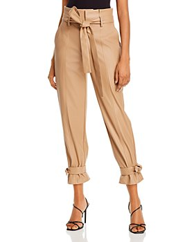 Lucy Paris - Faux Leather Ankle Tie Pants - 100% Exclusive
