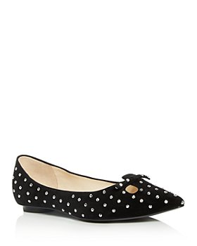 MARC JACOBS - Women's The Studded Mouse Pointed-Toe Flats