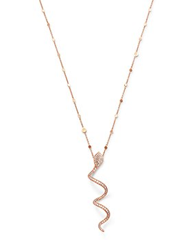 """Pasquale Bruni - 18K Rose Gold Look At Me White & Champagne Diamond Pendant Necklace, 35"""""""